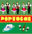 portuguese in national costumes vector image
