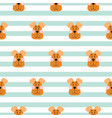 puppy head seamless pattern cartoon design vector image vector image