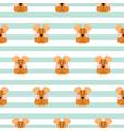puppy head seamless pattern cartoon design vector image