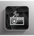 radio icon station symbol fm antenna vector image vector image