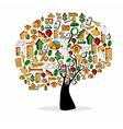 Real estate symbols in a tree vector image