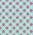 Seamless flower geometric pattern vector image vector image