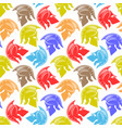 seamless pattern with colored spartan helmets vector image vector image