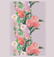 seamless watercolor floral lace border vector image vector image