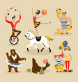 Set of circus characters vector image vector image