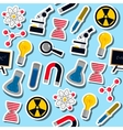 Set of Science colorful pattern icons vector image vector image