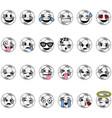 soccer cartoon emojis vector image