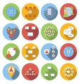 Social network flat icons set vector image vector image