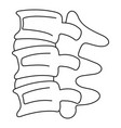 spinal column discs icon outline style vector image