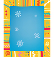 Template with frame and snow for christmas of vector image vector image