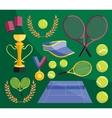tennis set icons vector image vector image