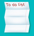 to do list in line on a blue background vector image vector image