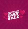 valentines day sale vintage comics retro vector image vector image