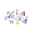 web design and development isometric vector image vector image