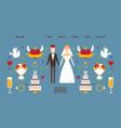 wedding expo website design vector image vector image