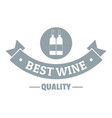 wine bar logo simple gray style vector image vector image