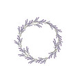 wreath lavender template design vector image vector image