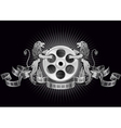 film reel with lions vector image