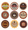 Set of vintage coffee and bakery badges and labels vector image