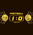 gold soccer or golden football black banner with vector image