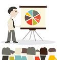 Man Cartoon on Presentation or Meeting vector image
