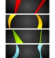 Abstract dark corporate banners with bright waves vector image vector image