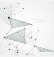 abstract polygonal space connecting background vector image vector image