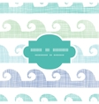 Abstract textile waves stripes frame seamless vector image vector image