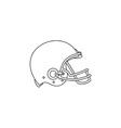 American Football Helmet Line Drawing vector image