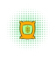 Bag of wheat icon pop-art style vector image vector image