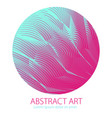 beautiful art element linear texture of surface vector image