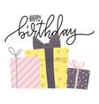 birthday greeting carddesign bday presents vector image vector image