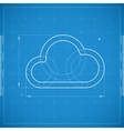 Blueprint of cloud Stylized vector image
