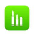 bullets icon digital green vector image vector image