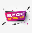 buy 1 get 1 free sale banner discount tag design vector image