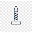 candle concept linear icon isolated on vector image