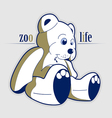 Cartoon style teddy bear toy vector | Price: 1 Credit (USD $1)
