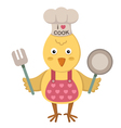 chicken cooking vector image vector image