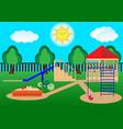 childrens playground curtoon flat design vector image
