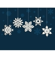 Christmas decoration with snowflakes vector image
