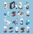 cryogenics isometric icons collection vector image vector image