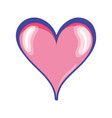 cute heart symbol of passion and love vector image