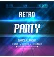 Dance Retro Party Poster Template Night Retro vector image vector image