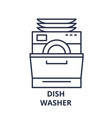 dish washer line icon concept dish washer vector image vector image