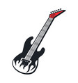 electric guitar white flame tongue vector image vector image