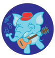 Elephant and Guitar vector image vector image