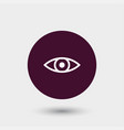 eye icon simple vector image
