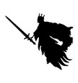 ghost king silhouette scary monster fantasy vector image