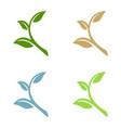 green leaf ecology logo template vector image