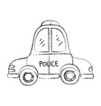 grunge emergency police car transport with siren vector image vector image